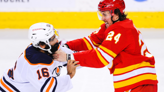 Brett Ritchie's Brutal KO Of Jujhar Khaira Was An Instant Classic That Rivals These Other Legendary Hockey Fights