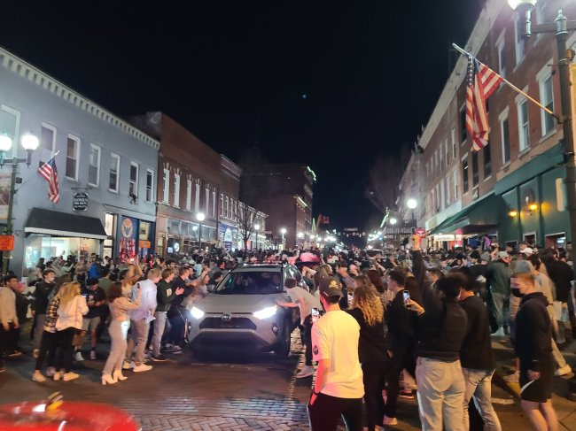 Ohio University Court Street Party March Madness