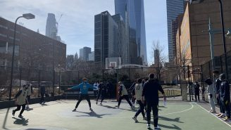 Marquette Basketball Practicing On A NYC Playground Before The Big East Tournament Is Such A Cool Move