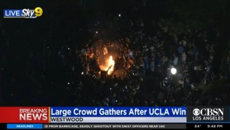 Westwood Was Burning As UCLA Students Partied In The Streets To Celebrate The Final Four