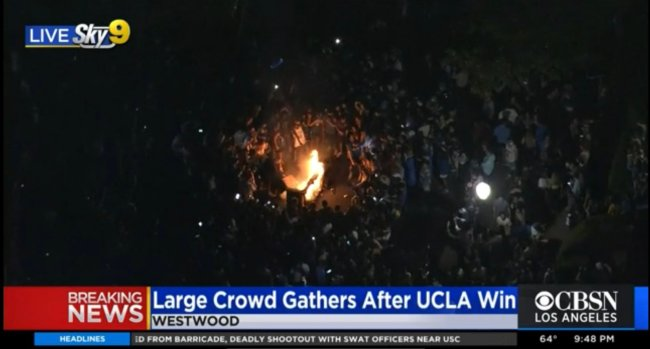 Westwood UCLA Fire Party Final Four Elite Eight March Madness