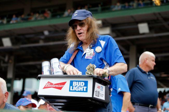 Beer Vendor Baseball Cubs