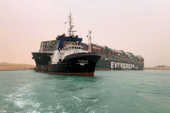Taiwan-owned MV Ever Given (Evergreen) mega-boat caught in Suez Canal, memes and jokes from the mishap.