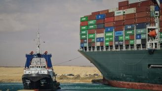 Potential Timeline Provided For Refloating Of Cargo Ship Stuck In The Suez Canal As Toilet Paper Shortage Looms