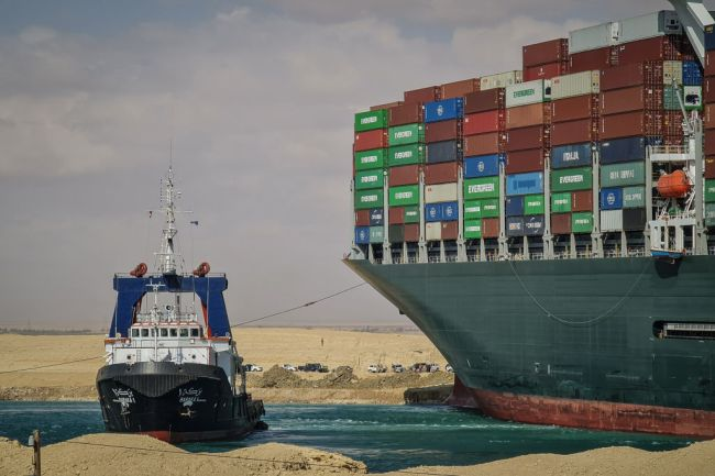 Suez Canal Blocked Ever Given