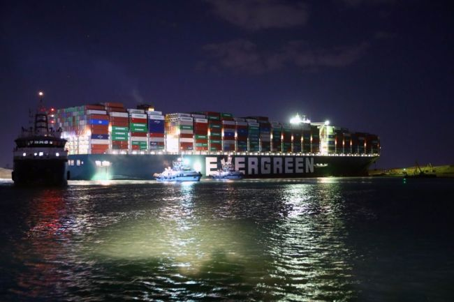 Suez Canal Ever Given Stuck