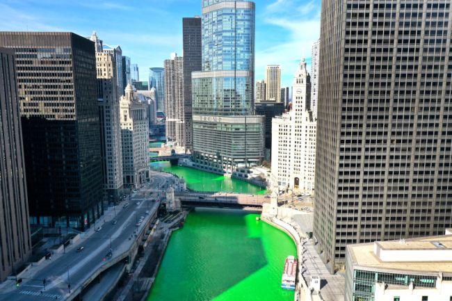 Chicago River Green Saint Patrick's Day