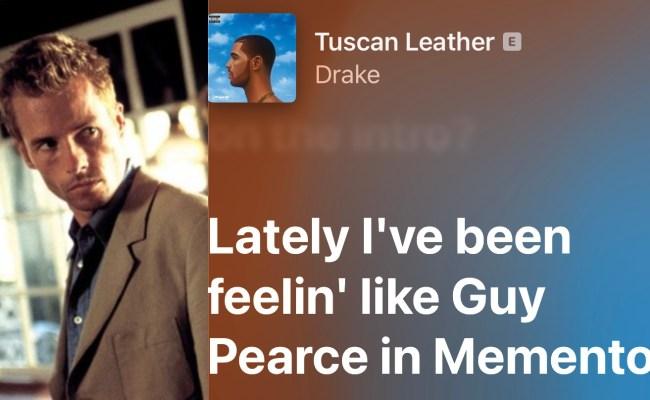 Guy Pearce Memento Drake Lyric