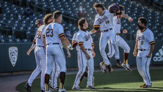 Arizona State's Sean McLain Hitting A Massive Home Run After Being Thrown At For His Bat-Flip Is Beautiful Poetic Justice