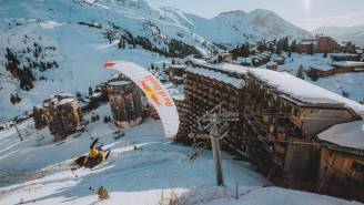 This Mesmerizing Video Of Extreme Speedriding Through A Deserted French Ski Resort Is Today's Moment Of Zen