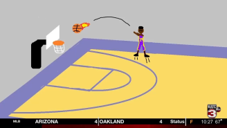 Sports Anchor Gives NCAA Tournament Highlights Using MS Paint To Get Around Restrictions