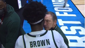 Draymond Green Defends MSU HC Tom Izzo After Izzo Aggressively Grabbed Gabe Brown By The Arm During Heated Exchange