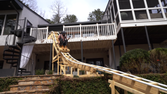 Teen Builds 100 Foot Long Roller Coaster In His Backyard Because He Was Bored During The Pandemic
