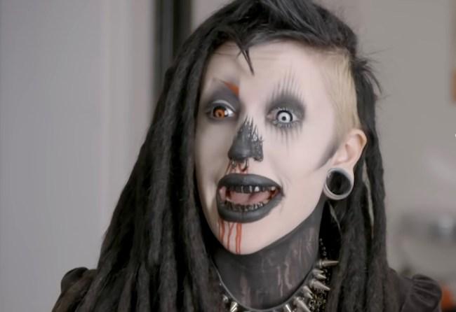 Vampire Goth Instagram model transformation