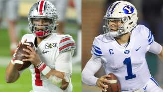 The Zach Wilson Vs. Justin Fields Debate Has Reached Its Peak After They Both Made Ridiculous Throws At Their Pro Days