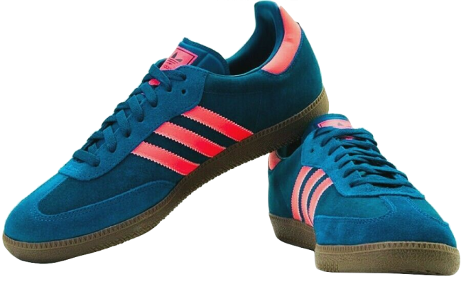 adidas OG Samba Tribal Blue Zest Red