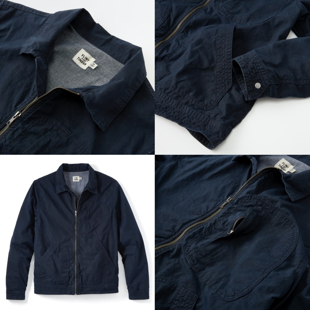 Waxed Flight Jacket breathable for Spring