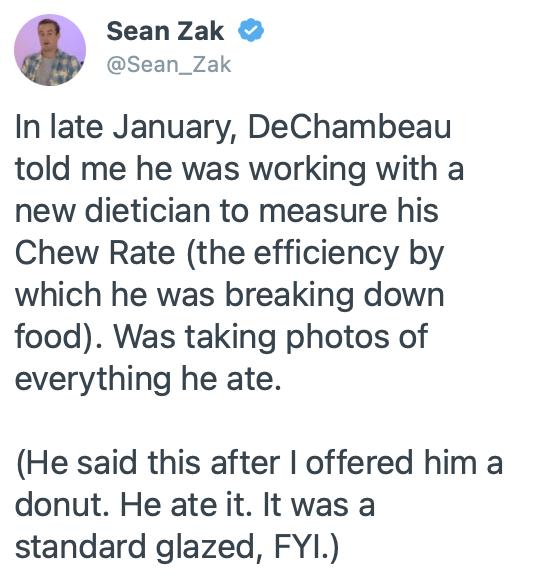 bryson dechambeau chew rate
