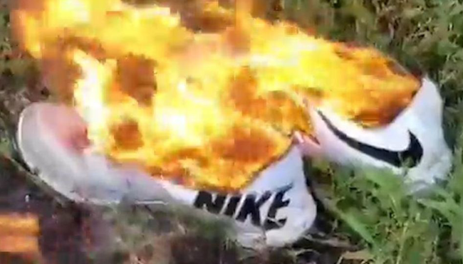 Is Burning Nike Gear Over The 'Satan Shoes' Nike Didn't Even Make The Dumbest Protest Of All Time?