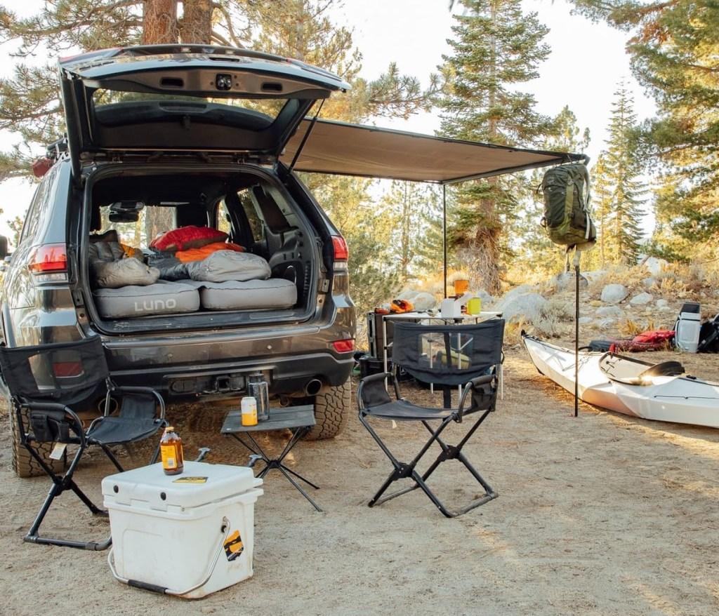 air mattress SUV car camping