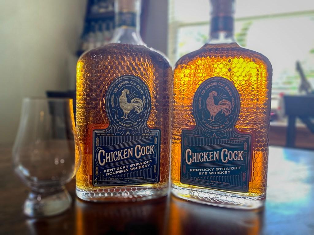 Chicken Cock Straight Kentucky Bourbon Whiskey and Rye