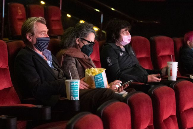 christopher nolan at the movie theater
