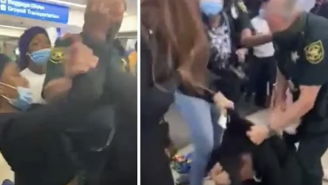 VIDEO: Brawl Breaks Out At Ft. Lauderdale Airport After Crowd Boos Travelers Not Wearing Masks