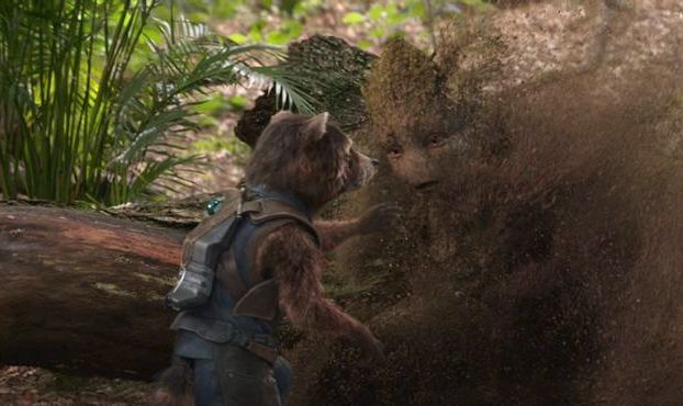 groot turning to dust infinity war