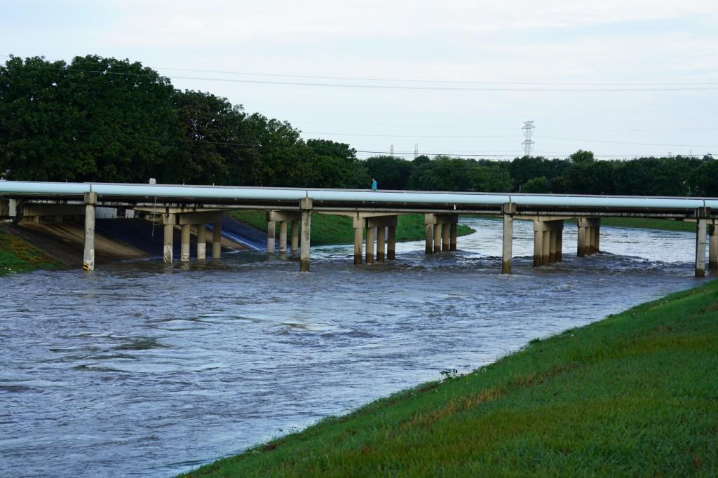 Houston bayou flooded
