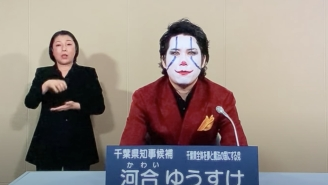 A Man Dressed As Joker Is Very Seriously Running For Governor In Japan