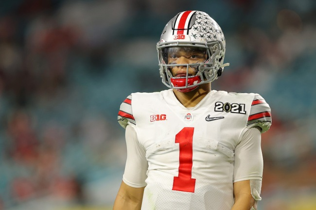 ESPN analyst Brandon Marshall thinks the New York Jets should draft Justin Fields over Zach Wilson because he'll be able to 'handle the New York media'