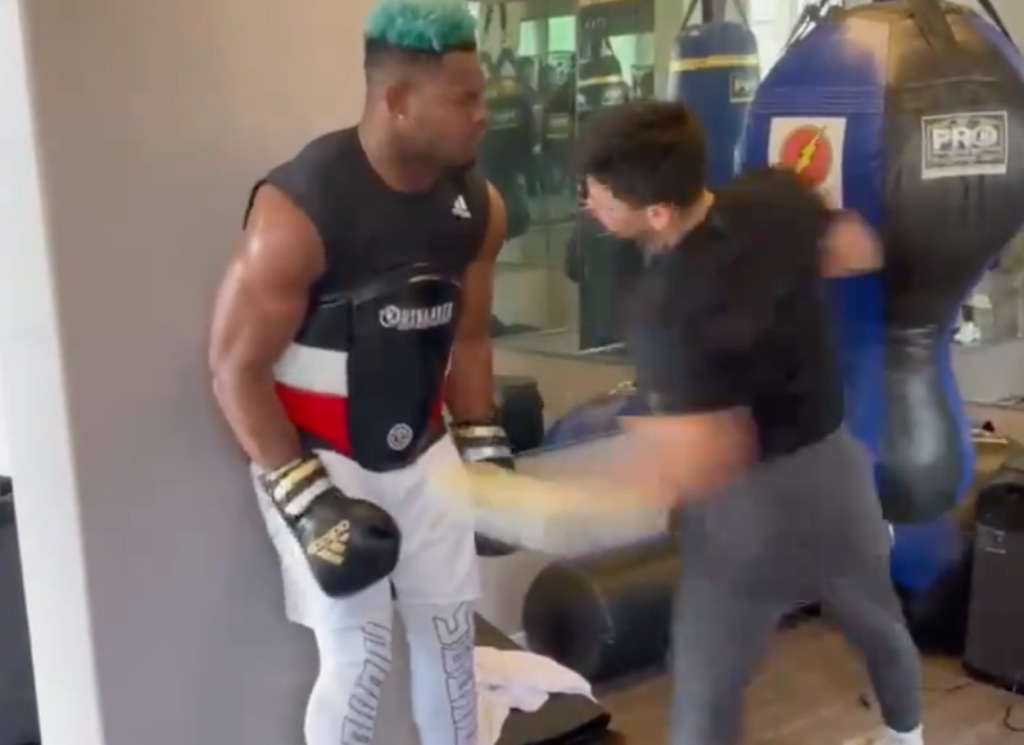 JuJu Smith-Schuster Takes Brutal 'Body Shot Challenge' Punches From Pro Boxer Ryan Garcia