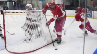 A Hockey Team Pulled Off A Fake Lacrosse Goal Deke That's So Filthy You'll Need A Shower After Seeing It