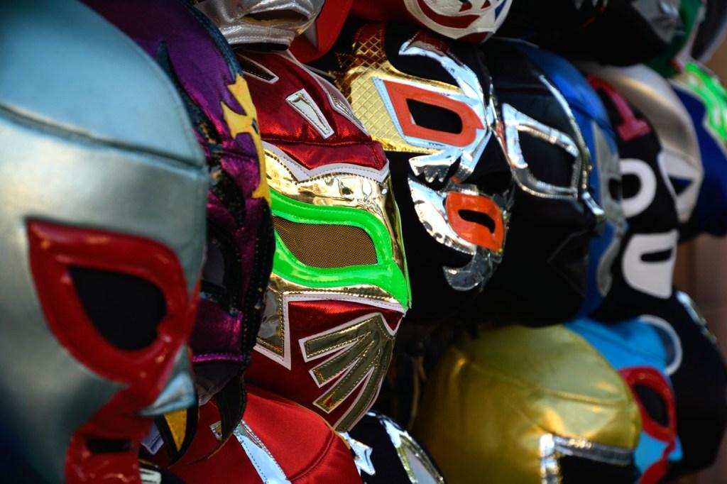 Lucha Libre wrestler masks