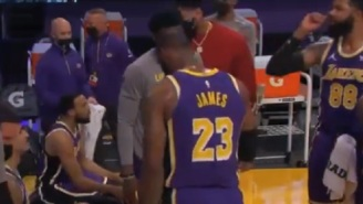 LeBron James And The Lakers Appear To Bust Out Weed Smoking Celebration On The Sideline Vs Hornets