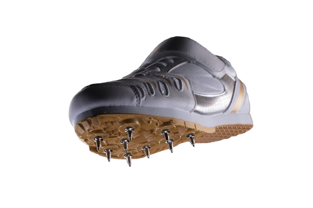 metal spikes on soccer cleats