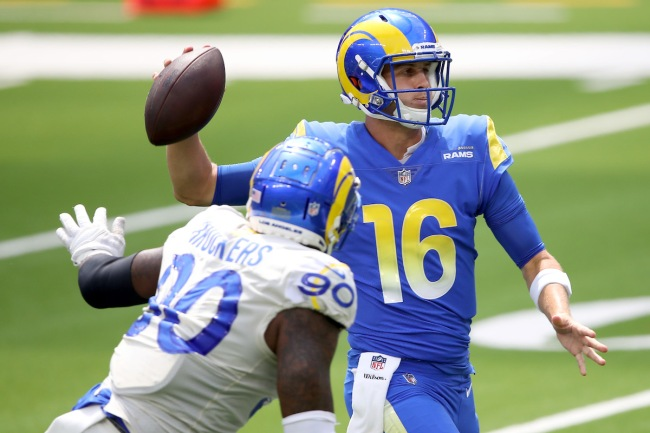 Michael Brockers' comments criticizing Jared Goff look awkward after the defender rejoins the QB on the Detroit Lions