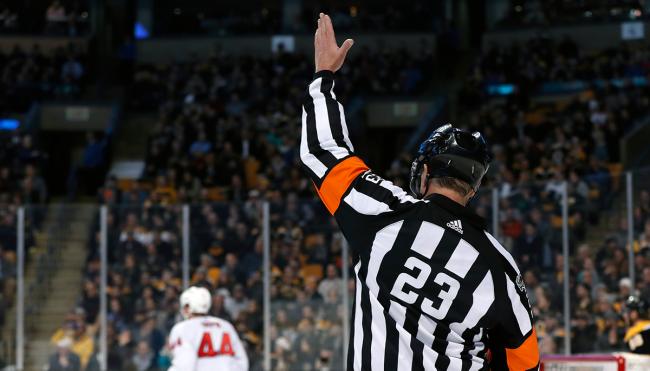 nhl referees make up call penalty