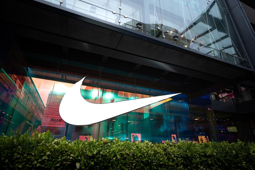 Nike swoosh flagship store