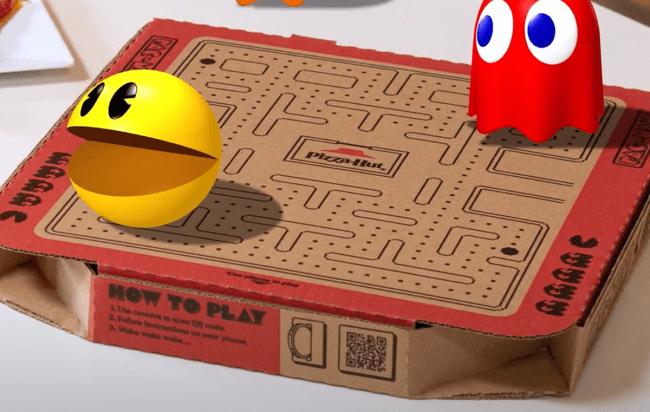 pizza hut playable pac man box