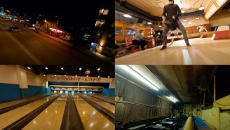 This Single-Shot Drone Footage Of A Bowling Alley Might Be The Coolest Video I've Seen In Years