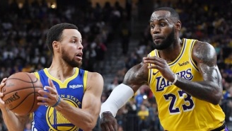 Fans Lose Their Minds After NBA Insider Claims LeBron James Is Trying To Recruit Steph Curry To The Lakers