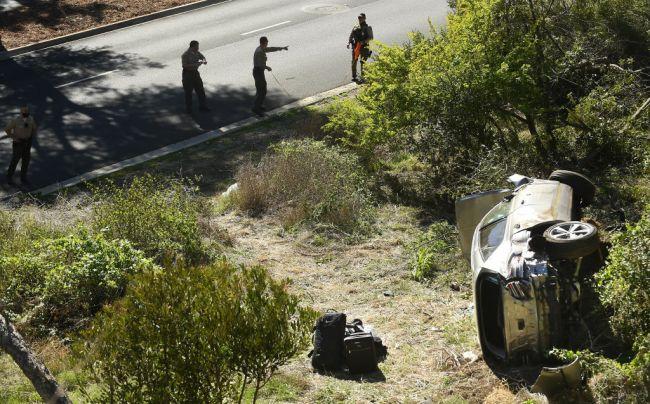 tiger woods unconscious car crash