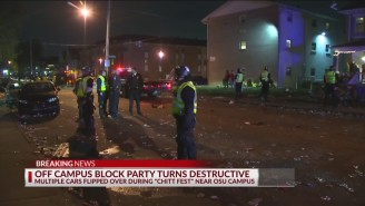 Ohio State Students Flipped Cars, Went Crazy In The Streets Of Columbus During Out-Of-Control 'Chitt Fest' Block Party