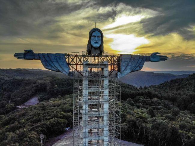 Christ The Protector Rio de Janiero Encantado, Rio Grande do Sul state, Brazil Jesus Statue