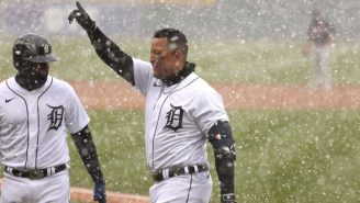 Miguel Cabrera Had No Idea That He Hit The First Home Run Of The 2021 MLB Season Because Of A Blizzard In Detroit