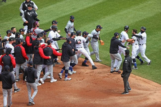 Cleveland Indians v Chicago White Sox Benches Clear Brawl Adam Eaton