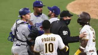 A Fan Ran Onto The Field In The Middle Of A Bench-Clearing Brawl During A Crazy Game Between The Dodgers And The Padres