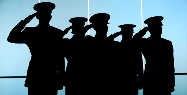 Marine Corps Master Sergeant Salute First Commissioning