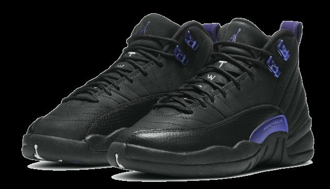 Nike Air Jordan Retro 12 GS Black Dark Concord